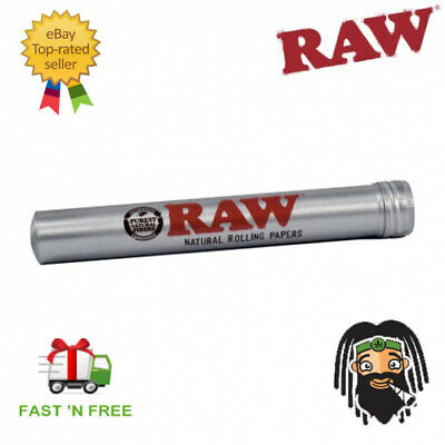 RAW Aluminium King Cone Joint Holder Tube - Pre Rolled Stash Smell Proof Storage