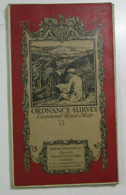 1928 Old OS Ordnance Survey One-Inch Popular Edition Map 71 Kidderminster
