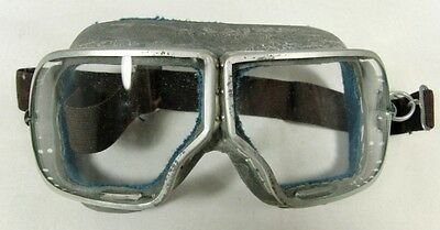 Original Soviet Russian Pilot Flying Aviator Tankman Moto Goggles WWII USSR Made