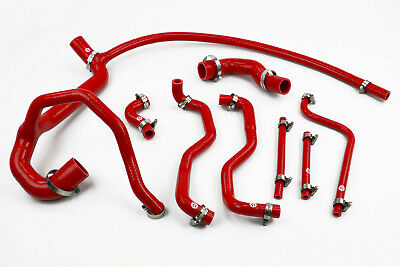 Stoney Racing Land Rover Discovery 300TDI Silicone Coolant Radiator Hoses Red
