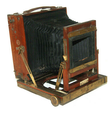 Thornton Pickard Triple Extension Brass and Mahogany 1/2 plate Camera - 1890s
