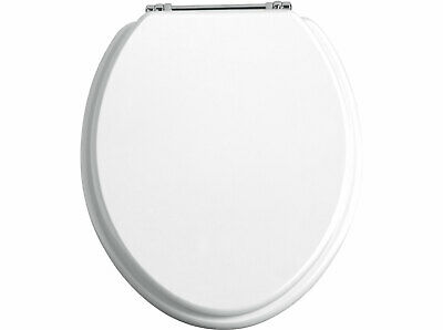 Terrific Heritage Solid Toilet Seat With Soft Close Chrome Hinge Evergreenethics Interior Chair Design Evergreenethicsorg