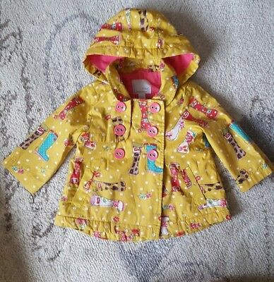 Next girls yellow patterned  raincoat coat.jacket   9-12 months 80 cm