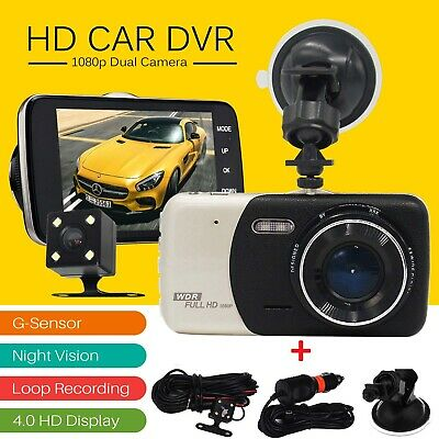 4'' HD 1080P Dual Lens Car DVR Front and Rear Camera Video Dash Cam Recorder