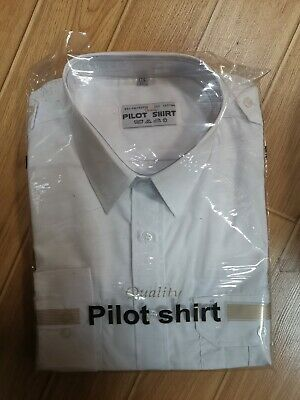 Men's Quality Pilot Shirts White Long & Short Sleeve *STOCK CLEARANCE CHEAP*