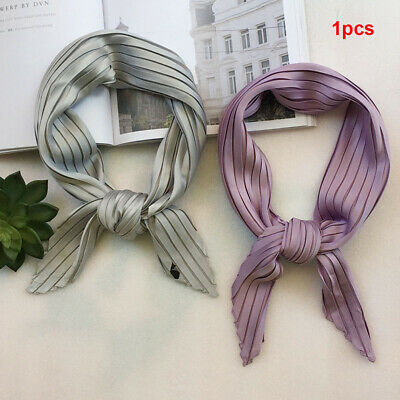 Elegant Square Scarf Shawl Chiffon Silk Head Neck Wrap Neckerchief Hair Tie Band