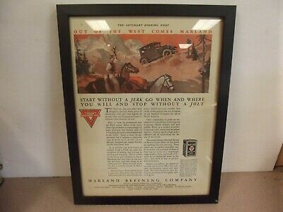 The Saturday Evening Post Framed Article-Marland Oils 15L X 11 3/4 W