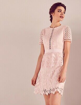 Ted Baker Layered Lace Skater Dress Baby Pink Size 1