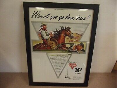 The Saturday Evening Post Framed Article-Conco Oils 15L X 11 3/4 W