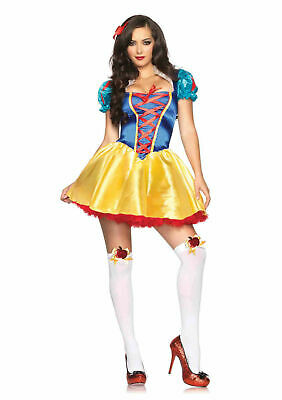 Halloween Costume Adult Womans Sexy Leg Avenue Fairytale Snow White size XS NEW