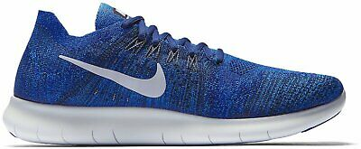 Mens Nike Free RN Flyknit 2017 880843 400 Blue Lagoon NEW Size 11