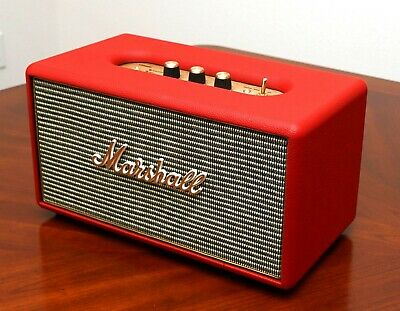 Marshall Stanmore Wireless Bluetooth Speaker RED custom painted