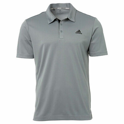 New 2019 Adidas Drive Novelty Solid Golf Polo Black/Gray Three Large