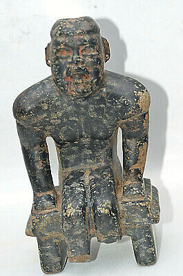 PRE-COLUMBIAN MAYAN JADE OLMEC SEATED KING w/DOCUMENTATION