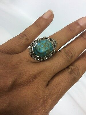 Stunning Vtg Egyptian Sterling Silver Scarab Marcasite 925 2 ring size 6