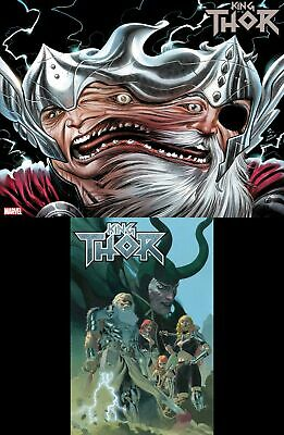 King Thor #1 2 Comic Lot (Marvel 2019) Immortal Variant