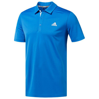 New 2019 Adidas Drive Novelty Solid Golf Polo True Blue/White Small
