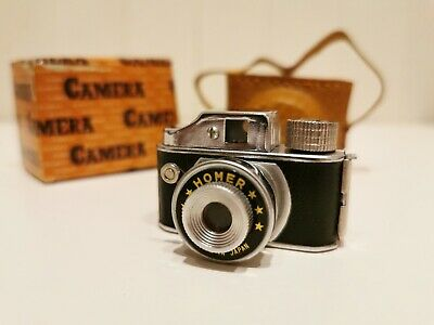 [Fully Working] HOMER Hit Type Subminiature Film Camera with Case and Box