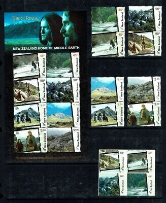 New Zealand: 2003 Lord of the Rings (series 4) Middle Earth, Set + M/s+ SA block