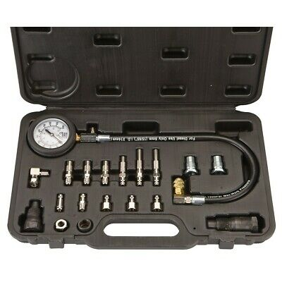 Diesel Engine Compression Cylinder Pressure Tester Gauge Set 0-1000 psi