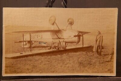 WWI Era Plane Accident, Airplane Wrecked Upside Down In Field Serial F-AJSS