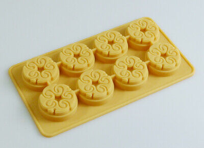 8 cell Mini Swirl Silicone baking Mould for Chocolate Resin Wax Casting