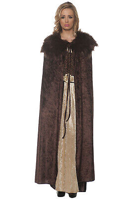 Brand New Medieval Renaissance Adult Cape (Brown)