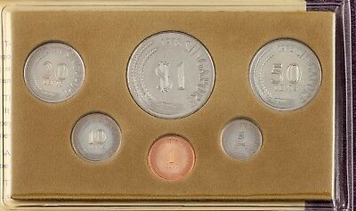 "1978 Singapore Mint ""Year of the Horse"" 6 Coin Set in Original Vinyl Sleeve Nice"