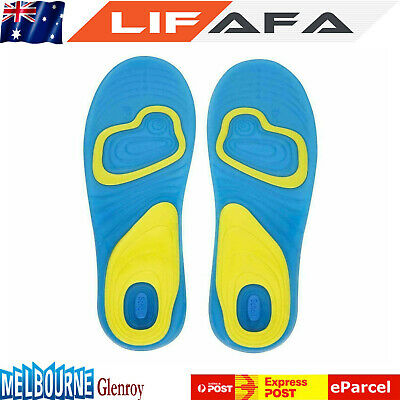 2pcs Activ Gel Insoles Massaging Gel Silicone Sport Running Insoles Support LF