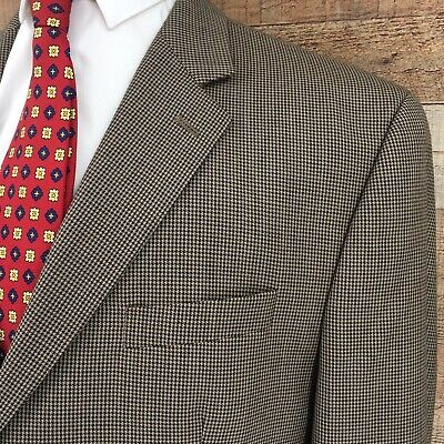 Ralph Lauren Men's Blue Label Houndstooth Sport Coat Blazer 2 Button Wool Sz 46L