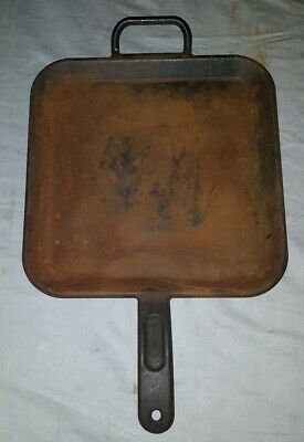 Square Cast Iron Griddle Pan LODGE Cookware Skillet  P12SG Frying Lodge Skillet