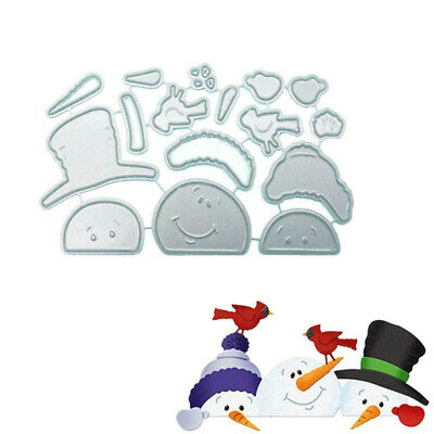 Christmas Snowman Cutting Dies Stencil Scrapbooking Paper Card Craft Embossing