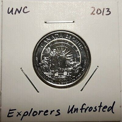 2013 CANADA 25 Cent Arctic Expedition UnFrosted Coin From Mint Roll UNC