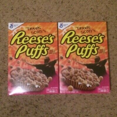 General Mills Travis Scott Reese's Puffs Cereal BNIB Limited Edition