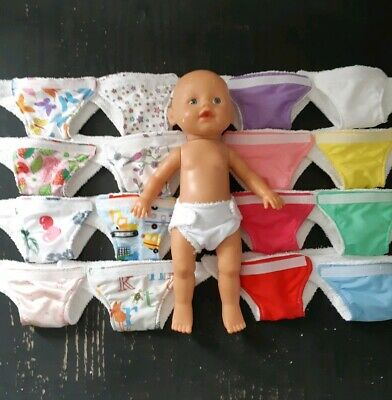 Homemade Little Baby Born (33cm doll) Nappy - 16 Pattern Choices
