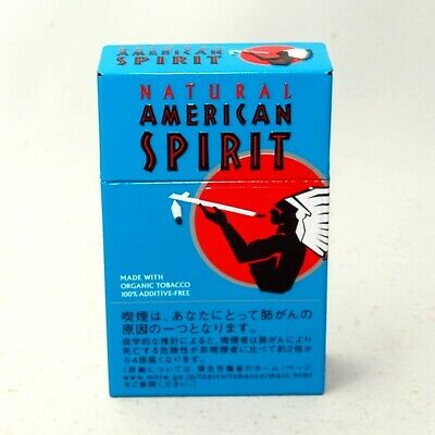 Natural American Spirit Cigarette Case Steel Blue Green Turquoise tobacco F/S
