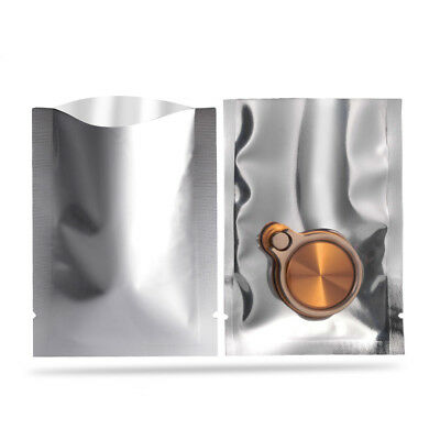 Front Clear Heat Seal Open Top Bag Silver Aluminum Foil Mylar Food Storage Pouch