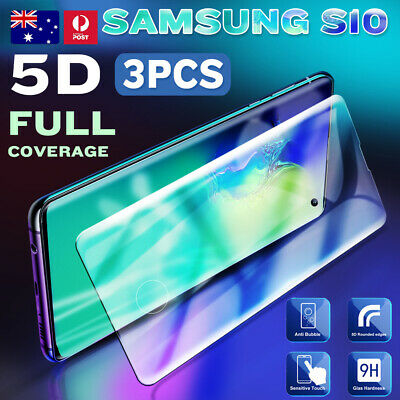 3X Genuine Tempered Glass/Film Screen Protector Samsung Galaxy S10 S9 S8 9H 6D