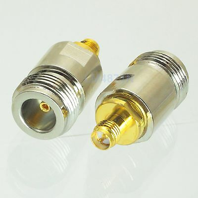 1pce Adapter N female jack to RP.SMA plug female RF connector straight