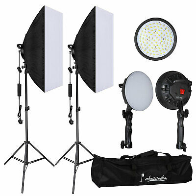 Photography Studio 60W LED Softbox Continuous Lighting Soft Box Light Stand Kit