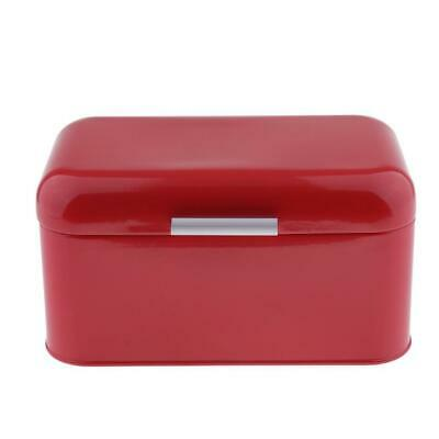 Bread Box Bin Simple Kitchen Bedroom Storage Cake Food Container Red/Blue