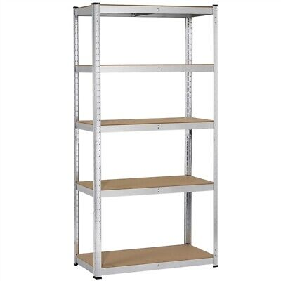 "5 Tier Storage Rack Utility Storage Shelves Metal Shelving Units Adjustable 71""H"