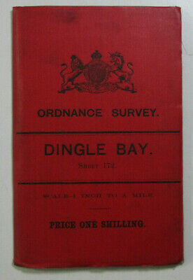 1899 Old OS Ordnance Survey Ireland Second Series One-Inch Map 172 Dingle Bay