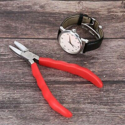 Stainless Steel Jaw Flat Nose Soft Plier Opticians Jewelry DIY Making Craft Tool