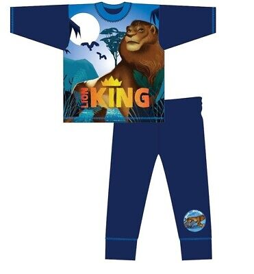 Boys Girls Lion King Disney Pyjamas Pjs Full Length PJ Set Infant Nightwear Kids