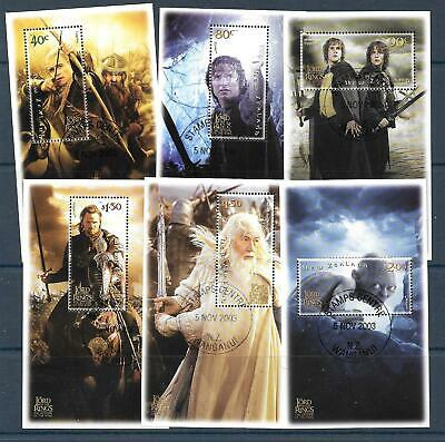 NEW ZEALAND 2003 LORD OF THE RINGS 3rd ISSUE 6XMS LIMITED EDITION (2652/7) MNH