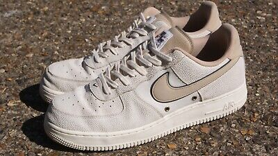 NIKE AIR FORCE 1 Low 07 LV8 Sail Linen White Beige UK 10