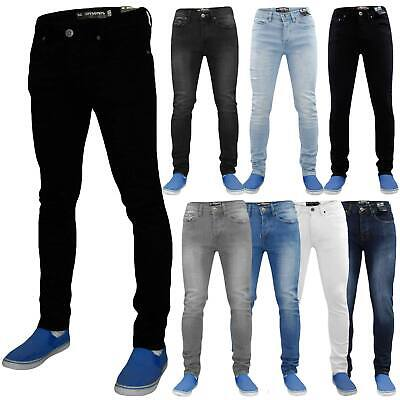 Mens Skinny Stretch Jeans Slim Fit Flex Casual Denim Pants Trousers All Waist