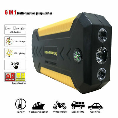 Multi Function Car Jump Starter Battery Booster Power Bank Rescue Kit 88000mAh