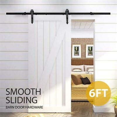 6-12' Sliding Barn Door Hardware Garage Closet Cabinet Window Track Rail Kit Set